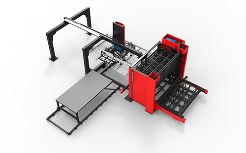 Automatic loading and unloading system for laser cutting machine
